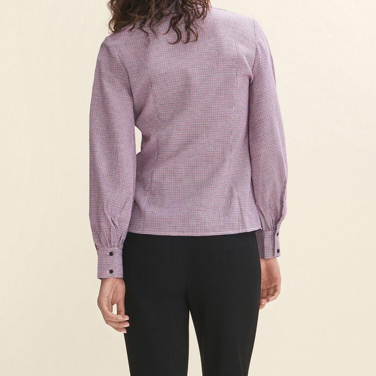 Chemise à fins carreaux : Tops couleur IMPRIME