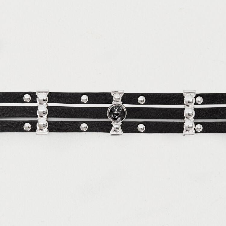 Ceinture taille haute en cuir : Nouvelle Collection couleur Black
