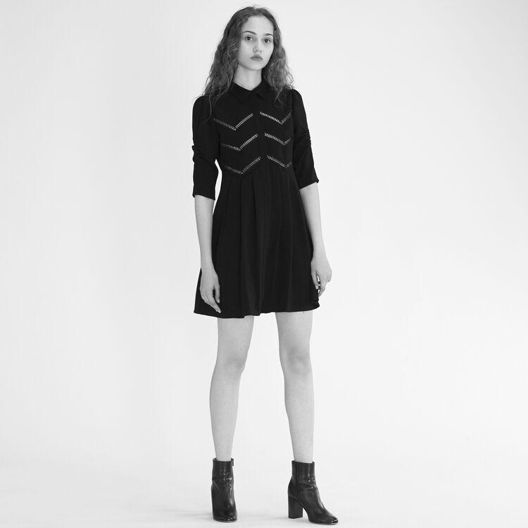 Robe chemise avec galons : Robes couleur Black