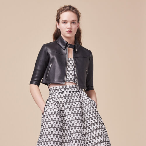 Cropped leather jacket - Jackets - MAJE