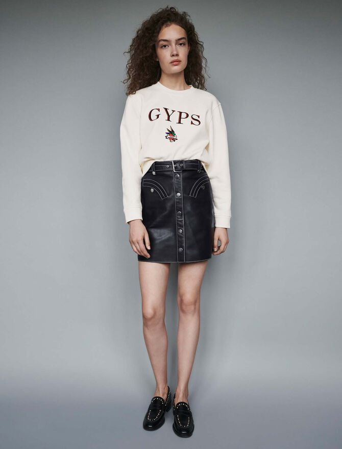Embroidered sweatshirt - Pullovers & Cardigans - MAJE