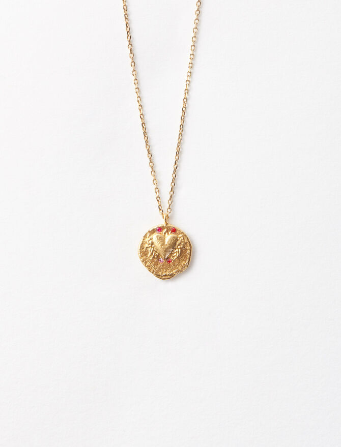 "Necklace with medallion ""Mon coeur"" -  - MAJE"
