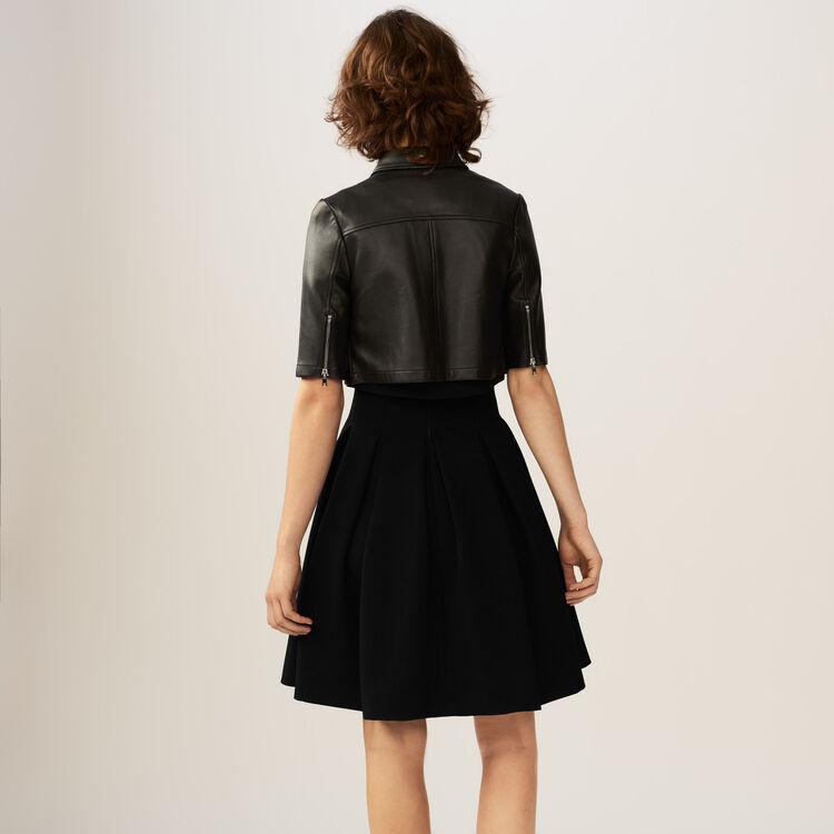 Mini-blouson en cuir : Blousons couleur Black