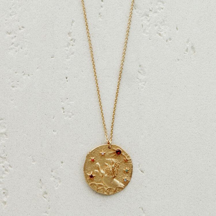 Collier Lion signe du zodiaque : Médailles couleur OR