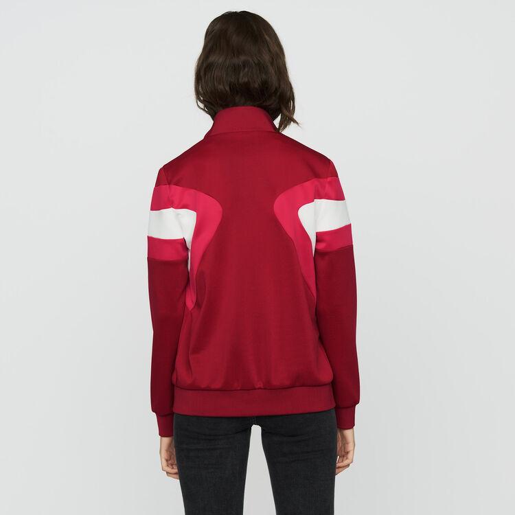 Sweat shirt sportswear : Vestes couleur Framboise