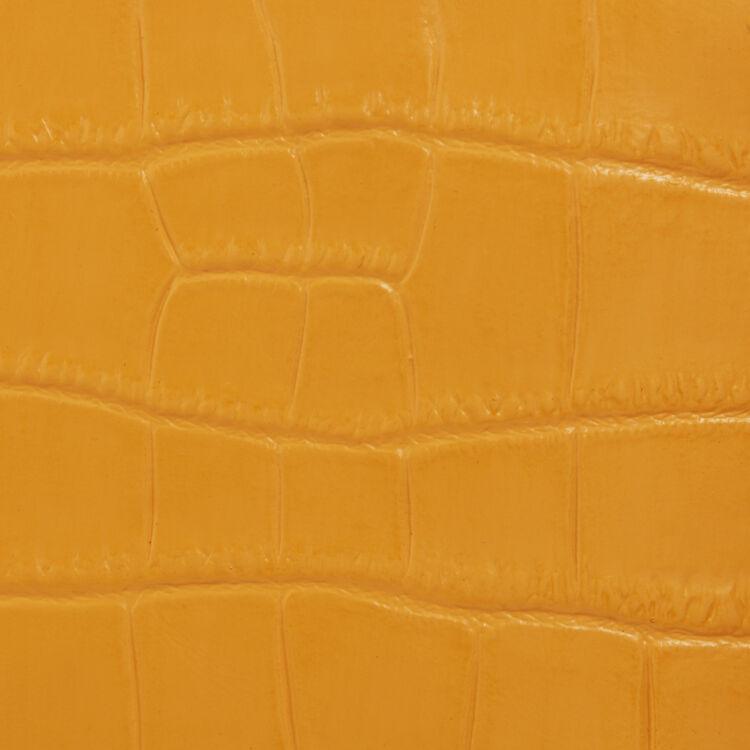 Sac M Mini en cuir embossé crocodile : M Mini couleur JAUNE