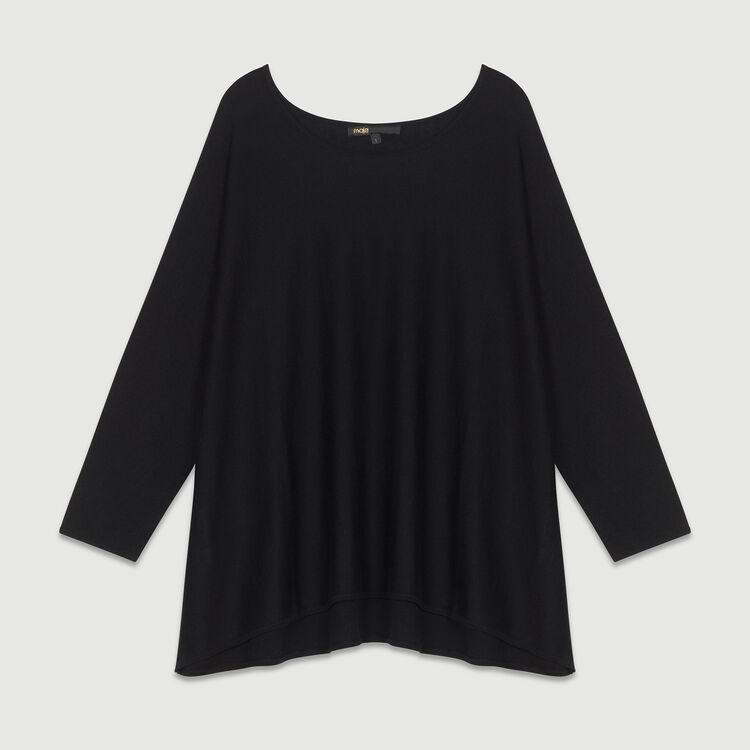 Pull oversize en soie et cachemire : Maille couleur BLACK