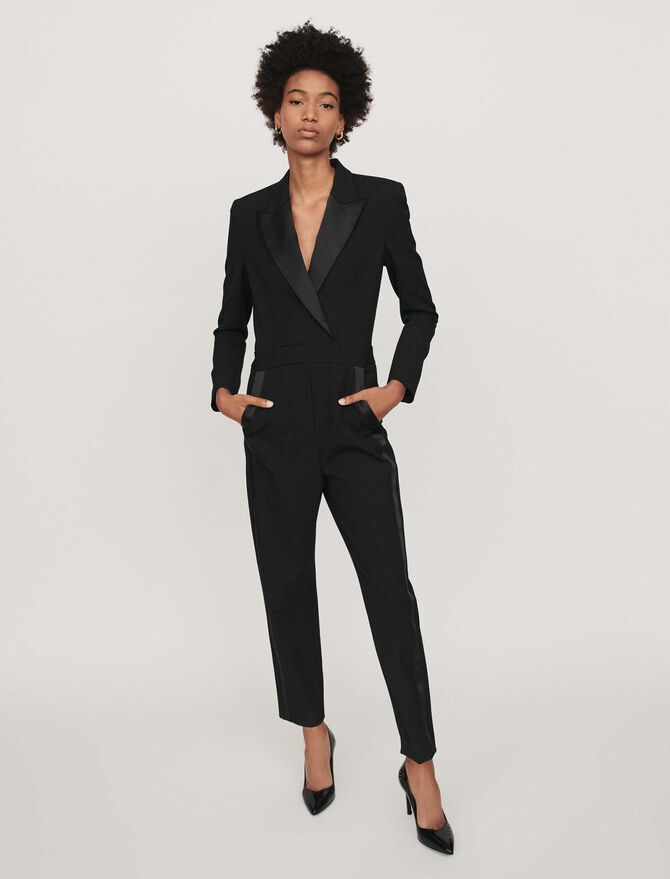 Tuxedo-style jumpsuit - Trousers & Jeans - MAJE