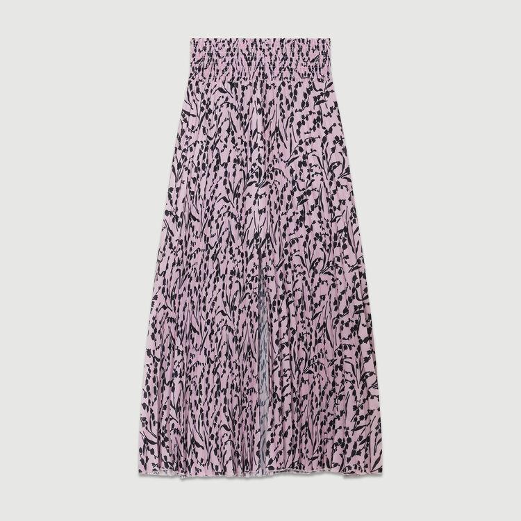 Jupe longue plissée : Jupes & Shorts couleur IMPRIME