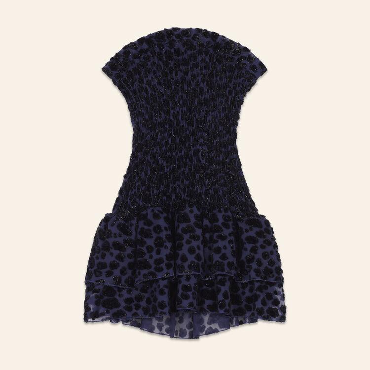 Robe bustier à motif léopard : Robes couleur Bleu