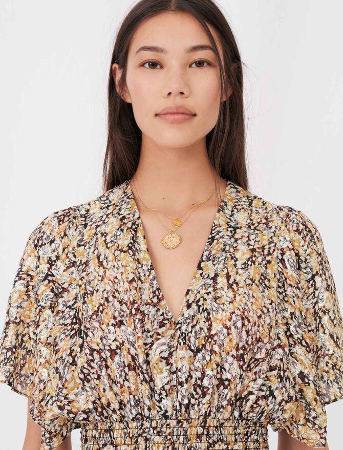 Smocked lurex jacquard dress - See all - MAJE