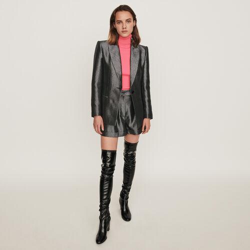 Veste de tailleur en Lurex : Vestes couleur Argent
