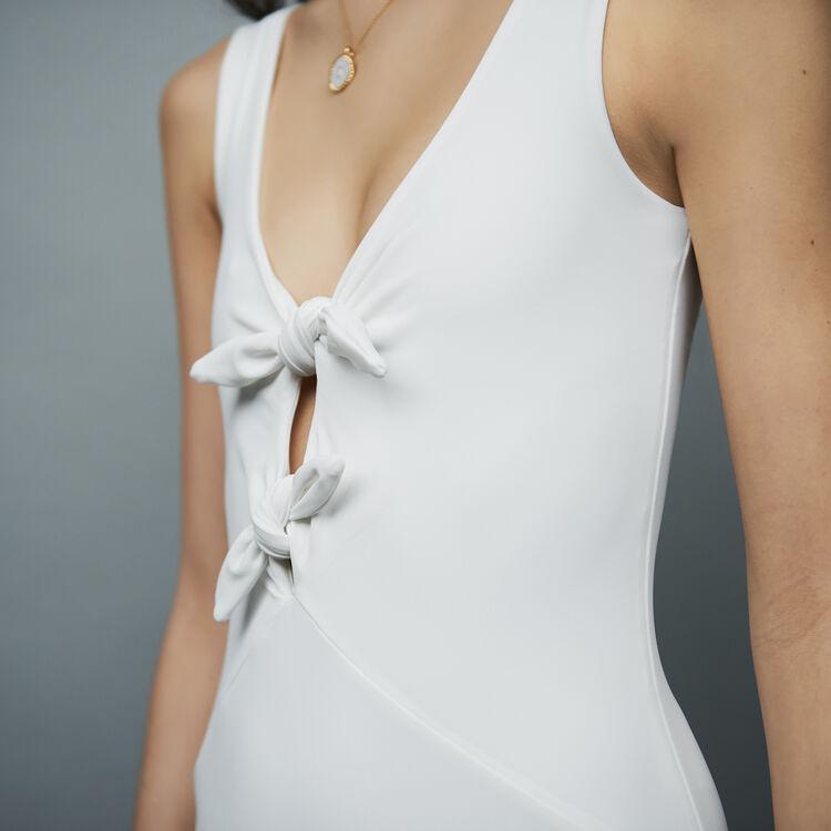 Body étanche avec nœuds : Tout voir couleur BLANC