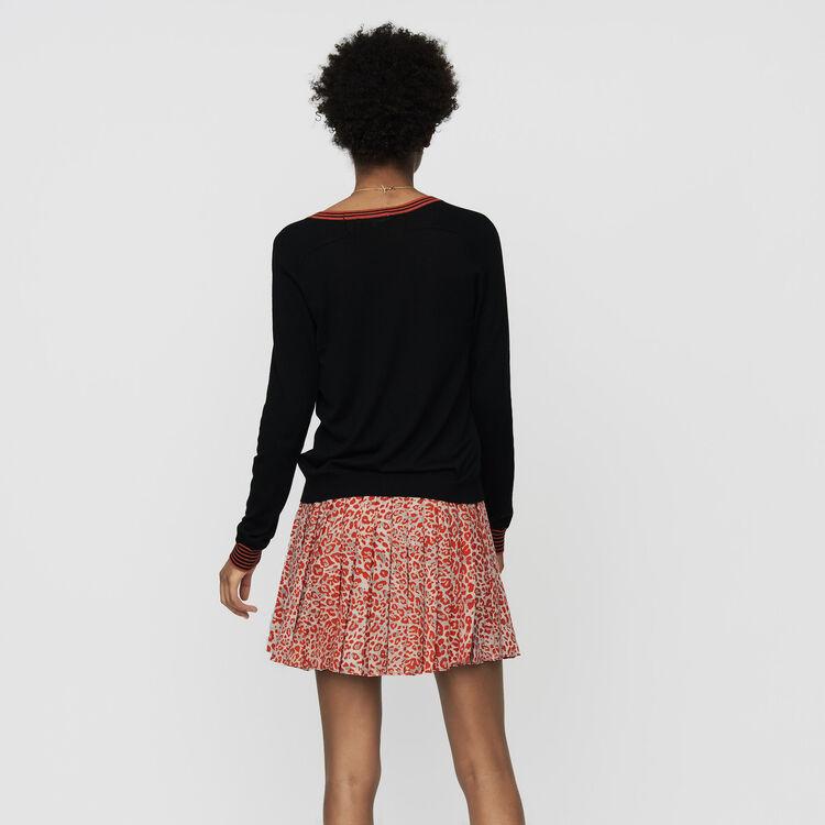 Cardigan fin en laine mérinos : Maille couleur Black
