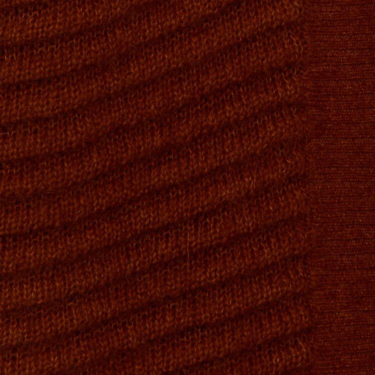 Cardigan en mohair et alpaga mélangés : Maille couleur Caramel