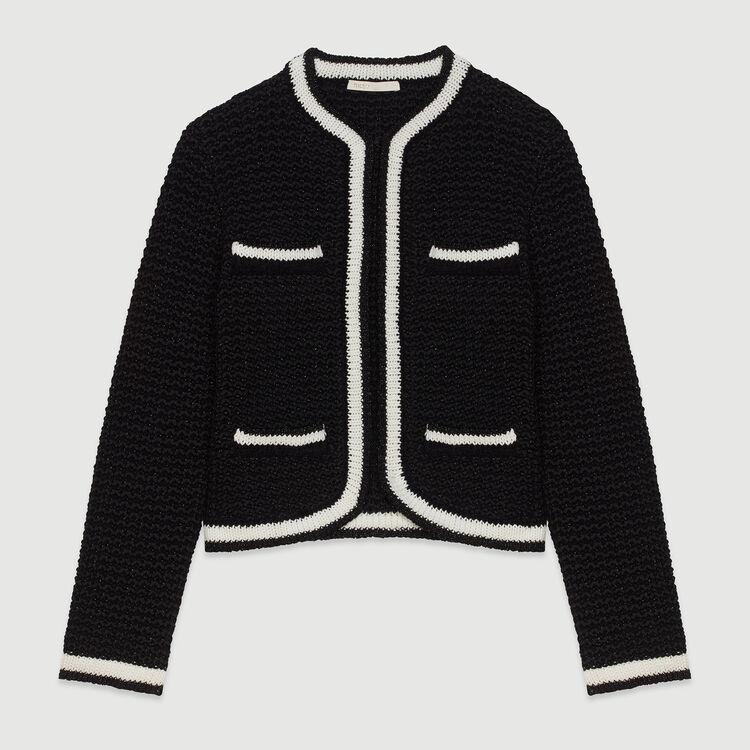 Cardigan court en maille : Pulls & Cardigans couleur Black