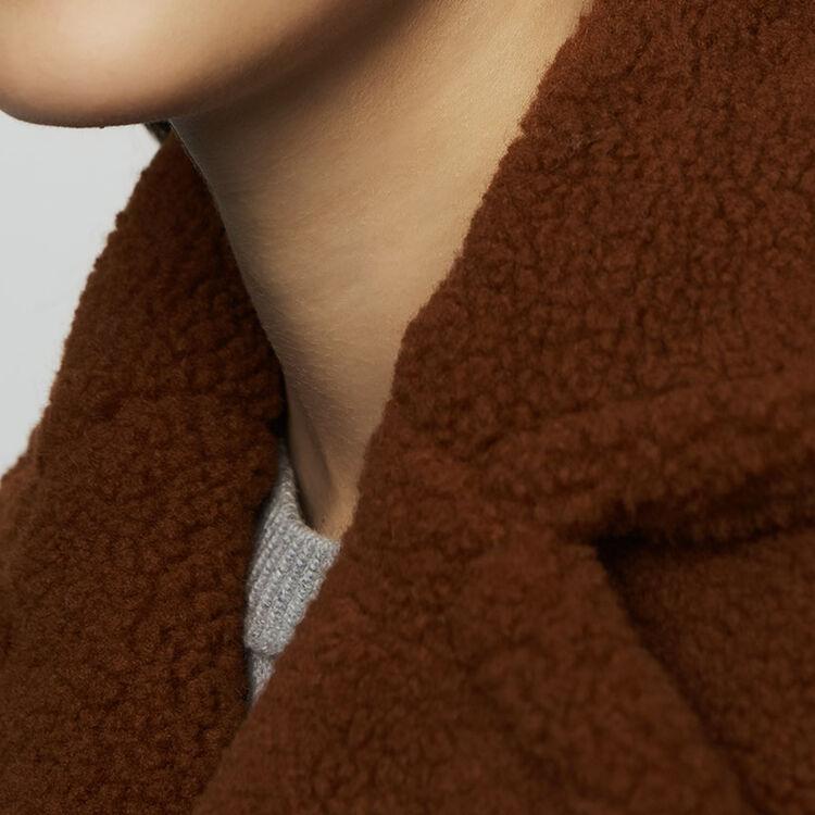 Manteau long en fausse fourrure : Manteaux couleur Marron