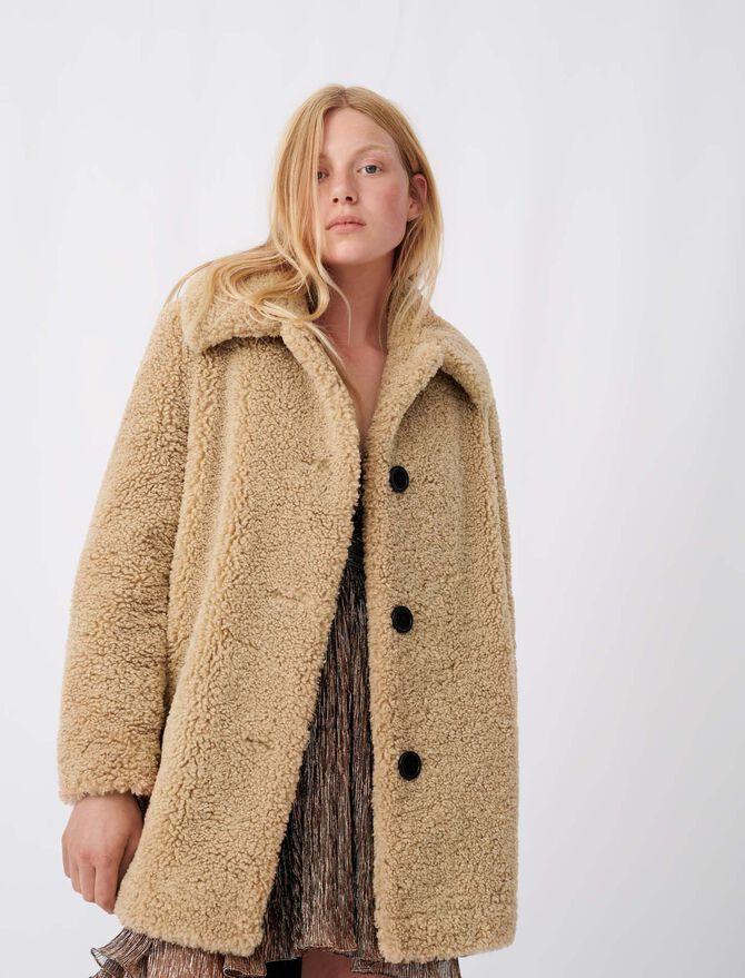 Manteau effet fourrure - tout - MAJE