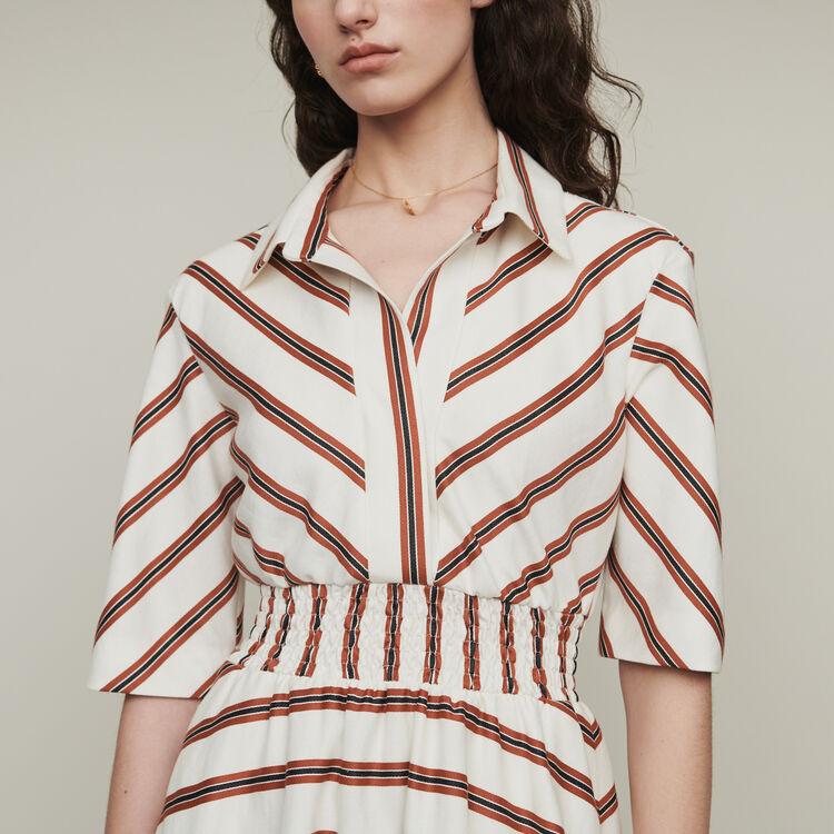 Long striped shirt dress : Dresses color Stripe