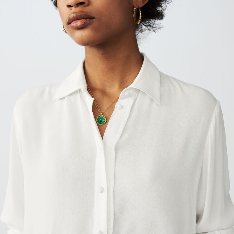 Chemise fluide à manches longues : Chemises couleur ECRU