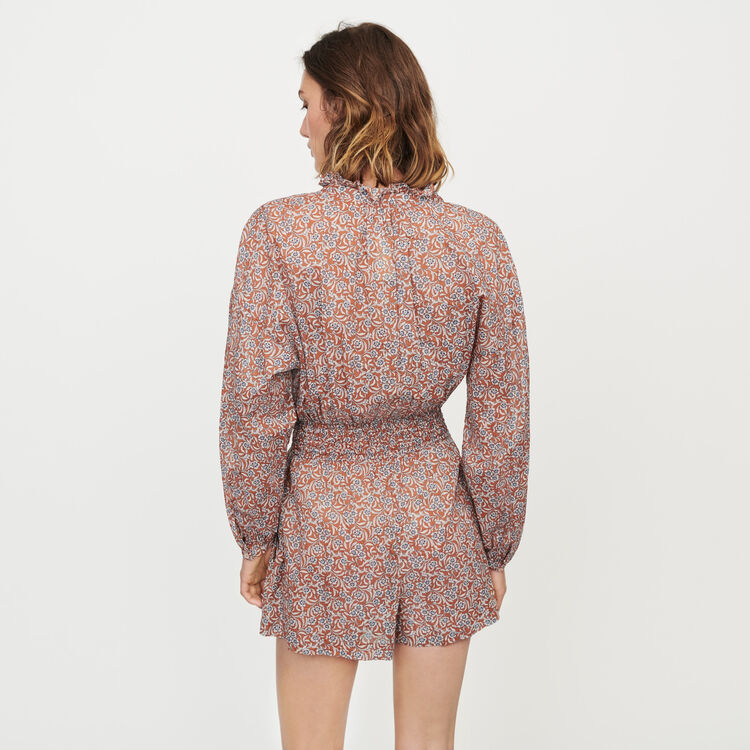 Combi-short à imprimé floral : Jupes & Shorts couleur Terracotta