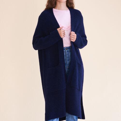 Cardigan long oversize  : Pulls & Cardigans couleur Nuit