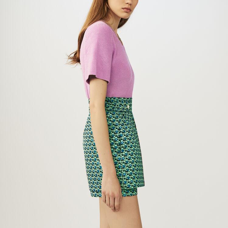 Short-jupe en jacquard : Jupes & Shorts couleur Jacquard
