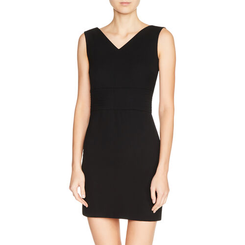 Crêpe sleeveless dress : Dresses color Black 210