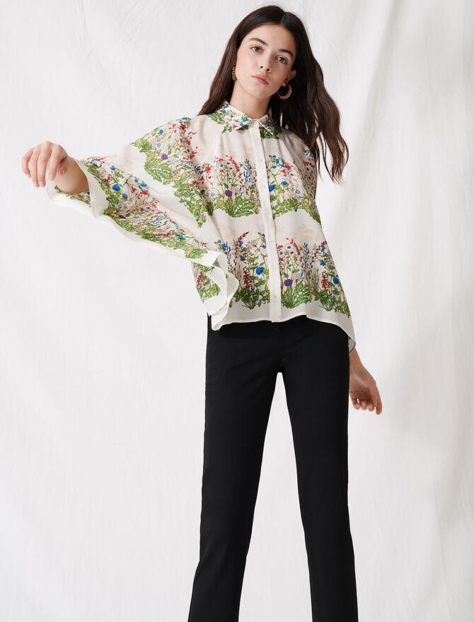 Oversized floral shirt -  - MAJE