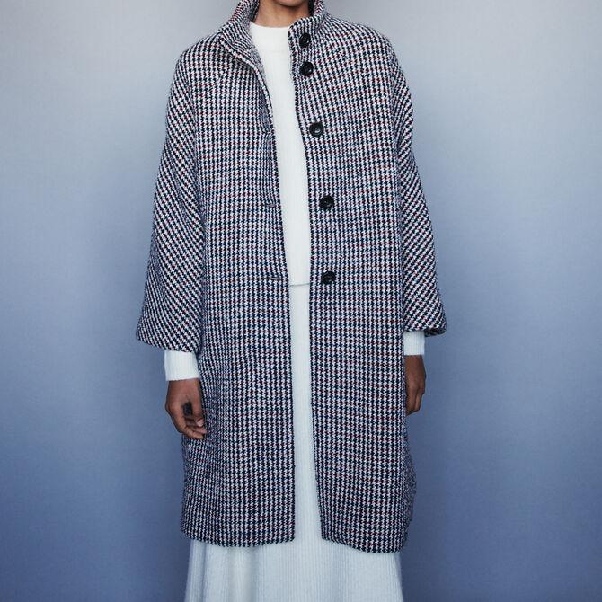 Manteau long en laine pied-de-poule - Vente privée personnel 20 - MAJE