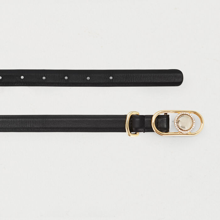 Ceinture pantalon taille mixte : New Collection couleur Black