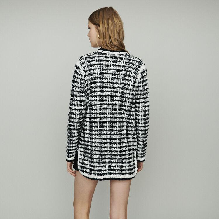 Cardigan-veste long en maille : Pulls & Cardigans couleur Bicolore