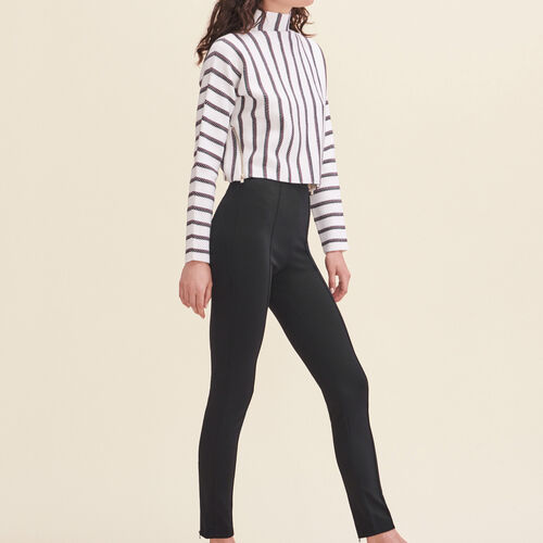 Leggings with stirrups : Trousers & Jeans color Black 210