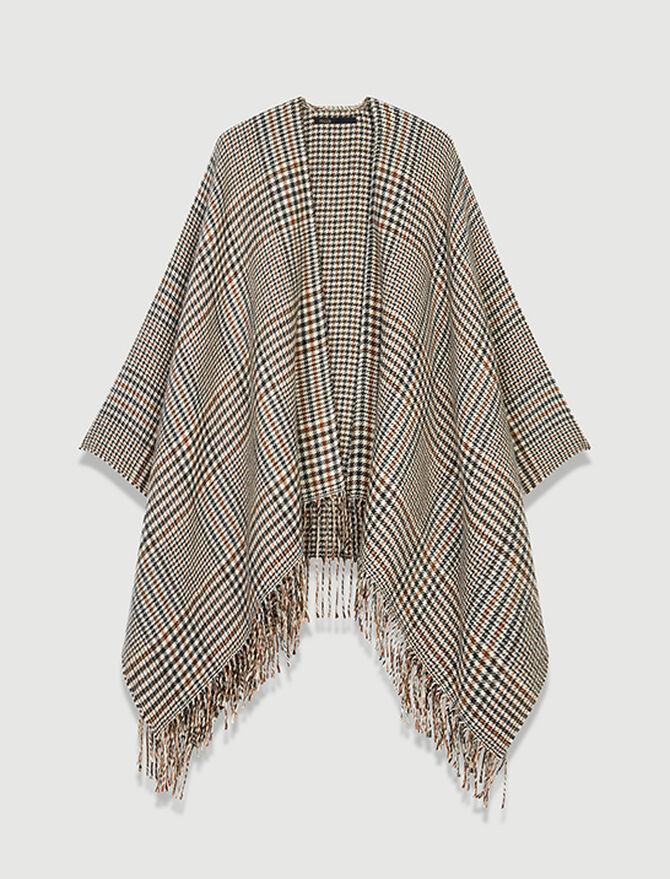 Wool blend poncho -  - MAJE