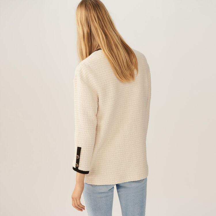 Veste loose en tweed : Vestes couleur ECRU