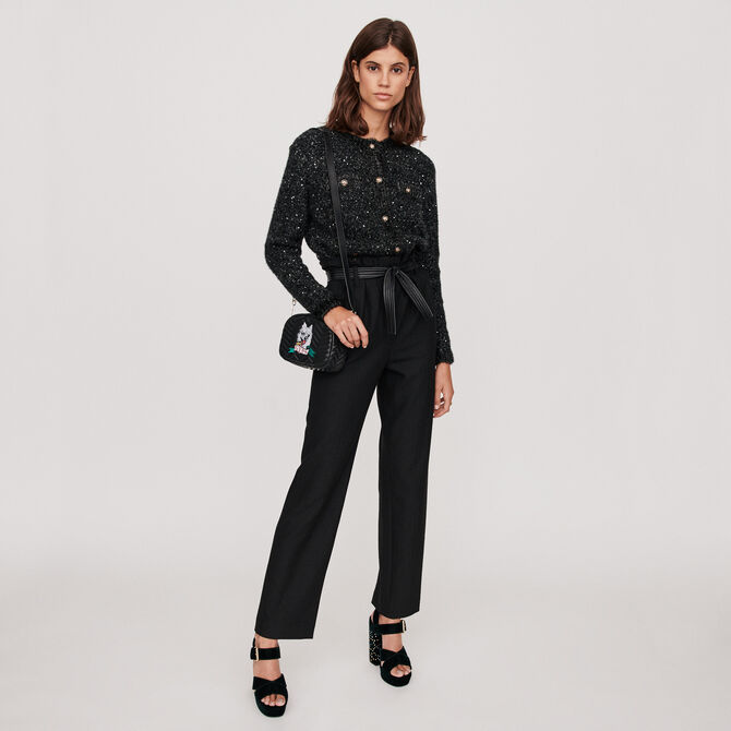 Belted wide-leg pants - staff private sale 20 - MAJE