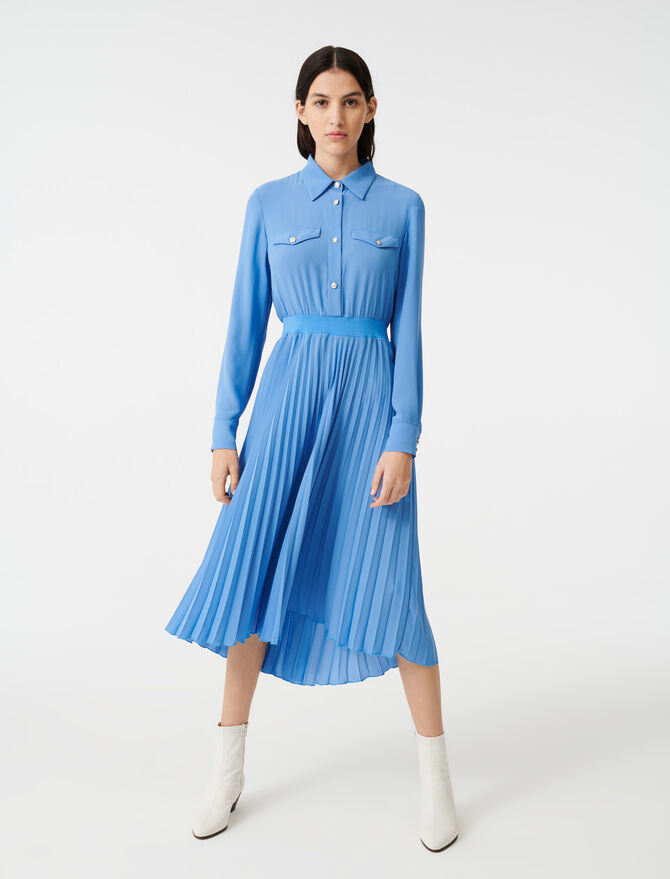Gathered waist shirt dress - Dresses - MAJE