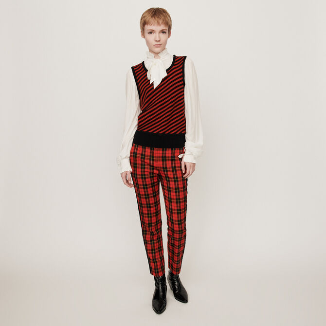 2-in-1 shirt with striped sweater - staff private sale 20 - MAJE