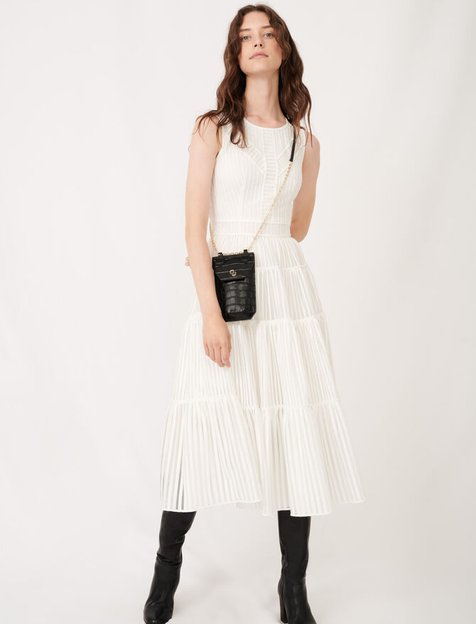 Long occasion dress with fancy details -  - MAJE
