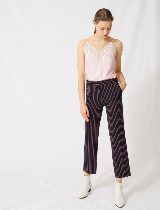 Striped suit trousers - All the collection - MAJE