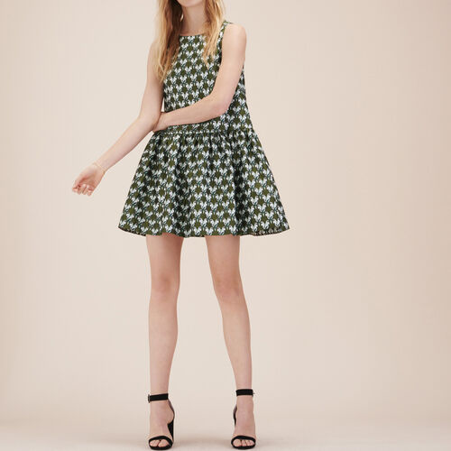 Jacquard sleeveless dress : Dresses color Jacquard