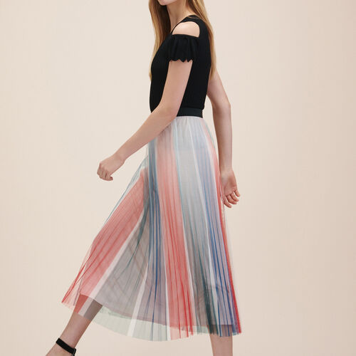 Pleated midi skirt : Skirts & Shorts color Print