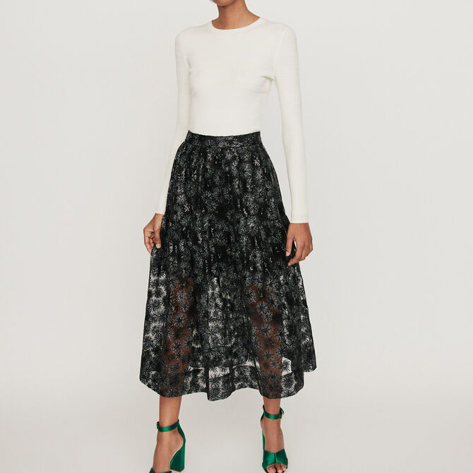 Sequin-embroidered tulle skirt - See all - MAJE