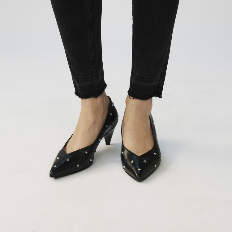 Jean skinny en coton Stretch : Jeans couleur Anthracite