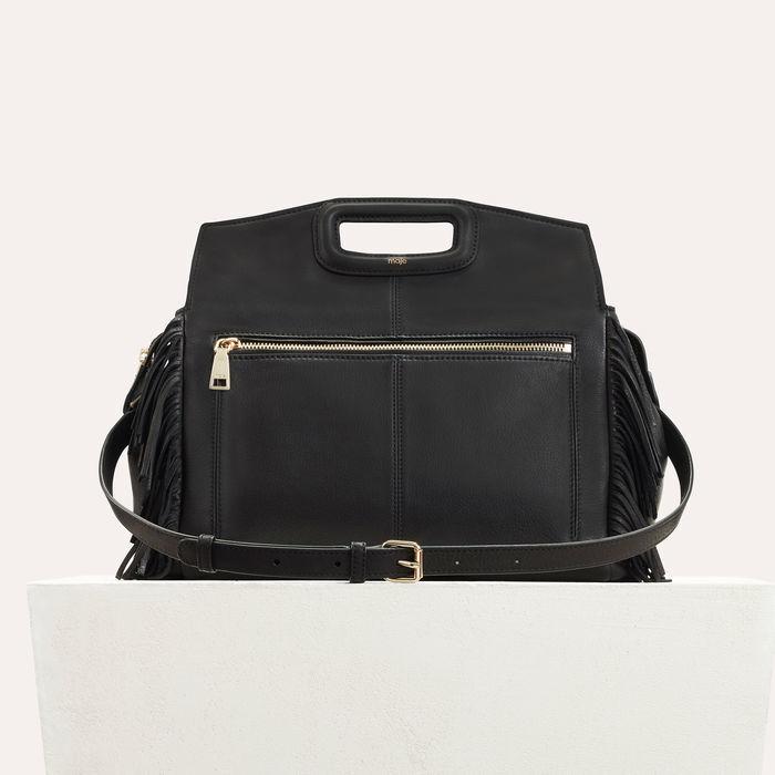 Sac M Walk à franges en cuir : Nouvelle Collection couleur BLACK