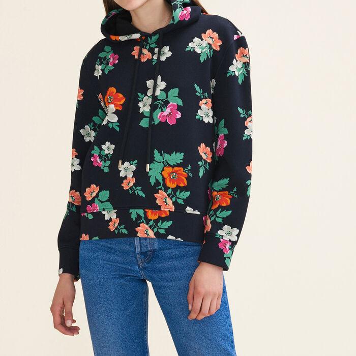 Sweat à capuche imprimé : Pulls & Cardigans couleur IMPRIME