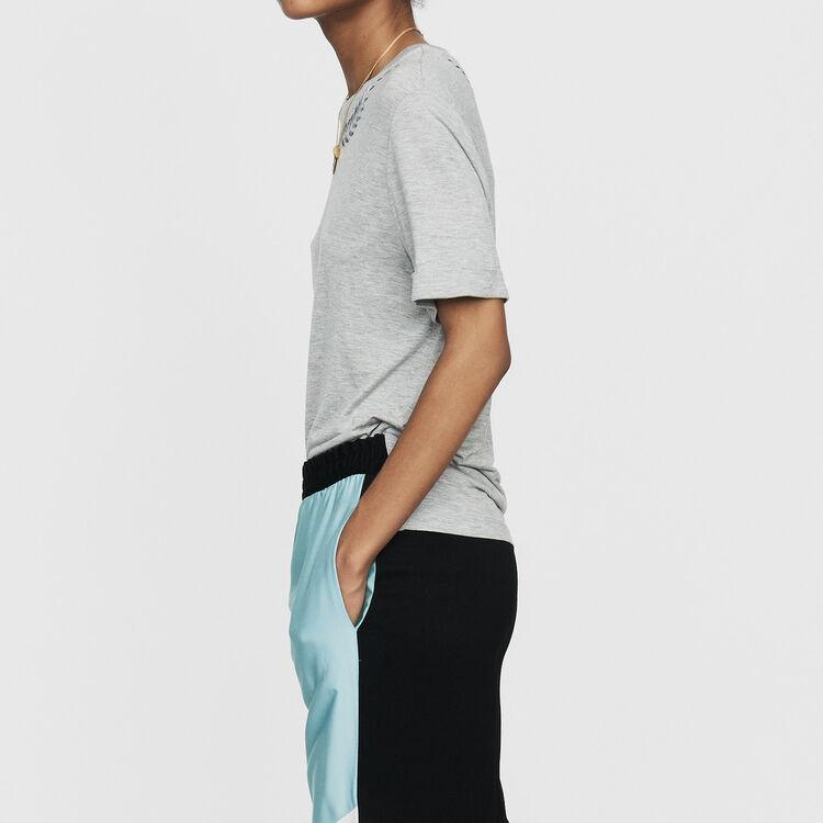 Tee-shirt avec broderie : T-Shirts couleur Gris