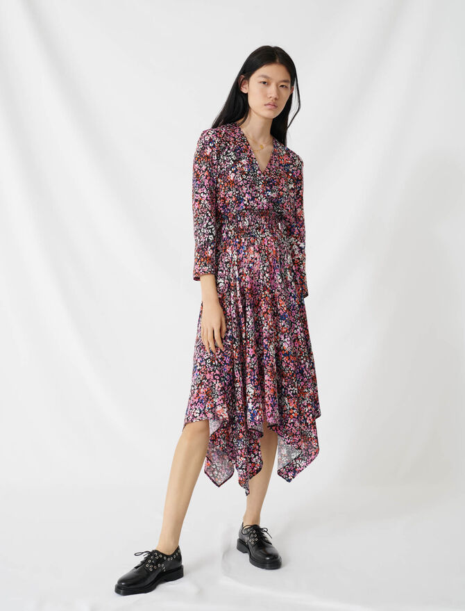 Floral wrap dress - Dresses - MAJE