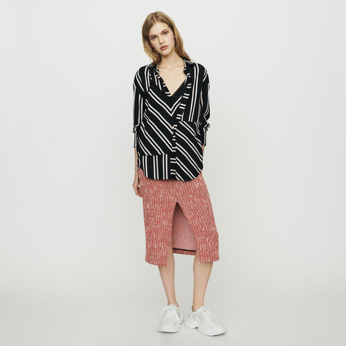 Shirt with trompe-l'œil stripes : Tops color Stripe