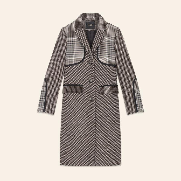 Manteau à carreaux : Manteaux couleur Jacquard